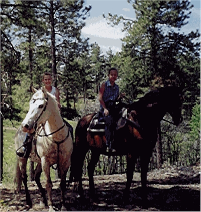 Nothing like riding a horse....