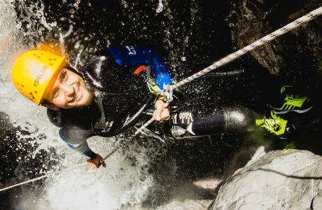 Learn to rappel in the canyon with Canyoning Colorado.