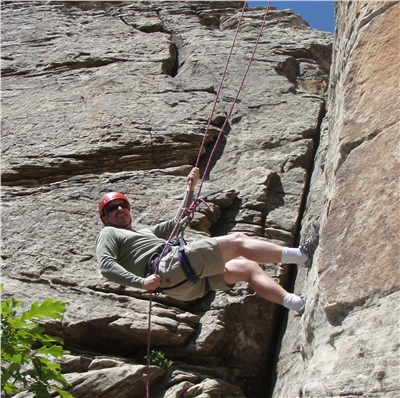 Rappelling at X-Rock