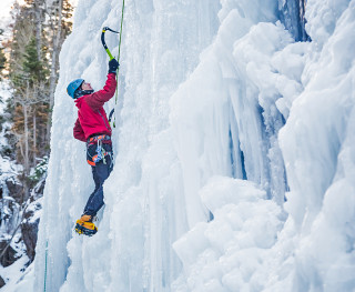 guided ice climbing