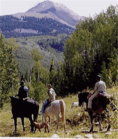 Horseback riding at Echo Basin Ranch