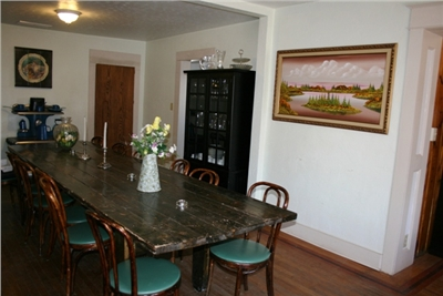 Dining Room where we serve breakfast to our guests