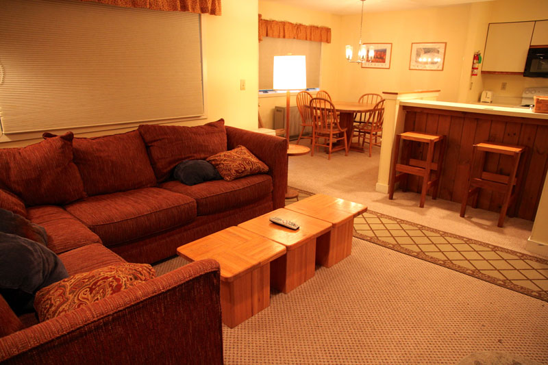Typical open living room at Vantage Point