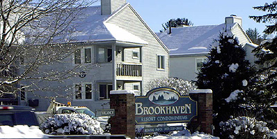 Brookhaven sign - winter