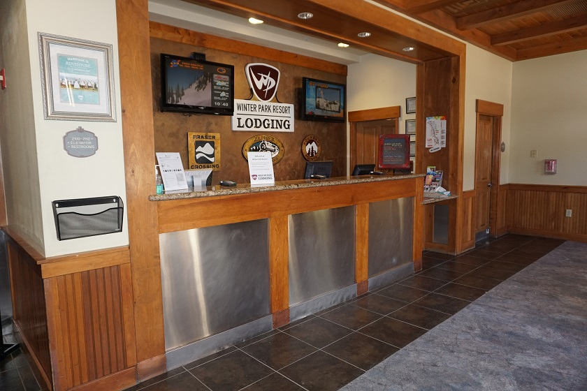 Front Desk (check in for Zephyr, Fraser/Founders, Parry Peak)