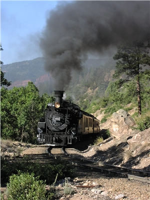 Durango-Silverton Train Behind Unit