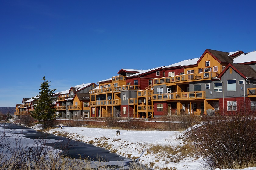 Waterside West Condo Winter Exterior
