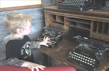High Plains Western Heritage Center Typewriter Display - Spearfish SD