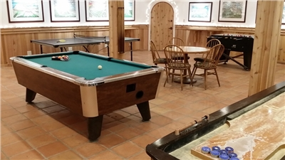 Game Room at Silverpick Lodge