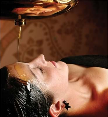 Shiro dhara treatment at Ashram Spa