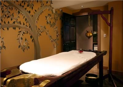 Traditional Ayurvedic Treatment Room